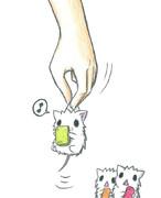 スマホしてるネズミ