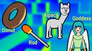 DRAG (Donut, Rod, Alpaca, Goddess)