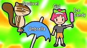 SUGI (Squirrel, Umbrella, Girl, Ice-candy)