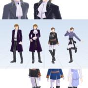 【MMD】174/191 閣下と殿下【衣装配布】