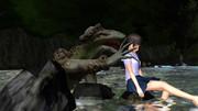 真夏の昼の川遊び4