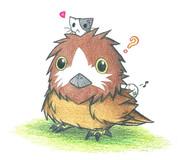 フクロウとにゃんこ