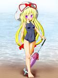 お題箱:香霖堂紫のスク水