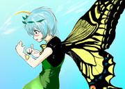 蝶とエタニティラルバ
