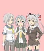 陽炎型銀髪3人娘