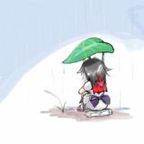 雨の日のアマノジャク。