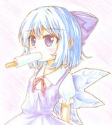 色鉛筆チルノ