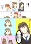 にらめっこ(凛vs奈緒)
