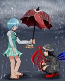 「傘、使う?」
