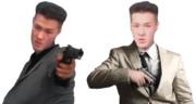 拳銃を持つTNOK.透過png