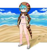 夏の終わりに水着ツチノコ
