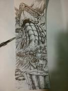 96円のボールペンの芯でレシートの裏に絵を描いてみた