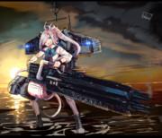駆逐艦朝霜 プレデターキャノン装備型