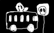 夜中の幽霊バス