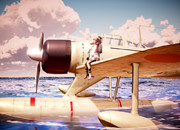 雪風と二式水上戦闘機
