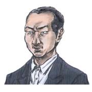 昏睡レイプ犯の田所浩治容疑者の法廷画