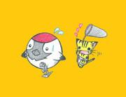 鶴とにゃんこ