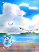 チルノは空と海の色