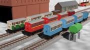 【MMDきかんしゃトーマス】高山客車と車掌車【配布あり】