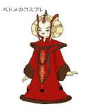 パドメ・アミダラ姫のコスプレをしたミミっとさん