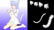 ネコミミと尻尾を配布してみます【MMDモデル配布】