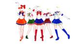 【MMD】セラミュ風衣装【親登録は立体へ】