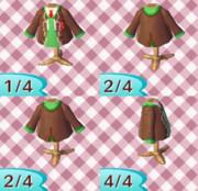 【どうぶつの森】コウ先生の服【QRコード】