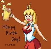 誕生日のマキマキ絵