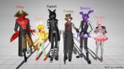 【※擬獣人化注意】Furry Nights at Freddy's MMD