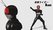 【MMD】仮面ライダー BLACK【モデル配布】