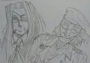 敬老の日なのでおじいちゃんとおばあちゃんを描いた