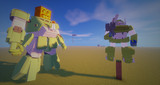 Minecraft」大会用の機体制作中level4「jointblock