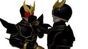 MMDファミリー単発赤(五代)VS黒(ユウスケ)