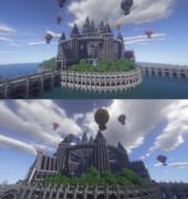 【Minecraft】水上の城