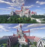 【Minecraft】お城