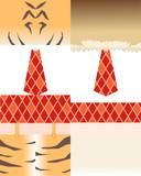 トラとライオン(けものフレンズ)
