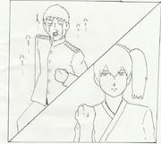 提督とケンカする加賀さん