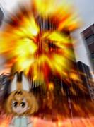 悪徳企業のビルを爆破するサーバルちゃん