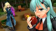 鈴谷と愛宕と宝石と木箱とリンゴ