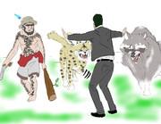 〇kawa社員と野生開放フレンズでジュラシックワールドパロディ