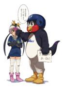 弱気ペンギンに鉄拳制裁