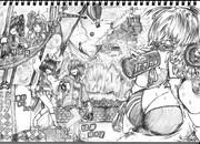 2B鉛筆で結月ゆかり描いてみた【その43】+弦巻マキ+琴葉茜+琴葉葵+東北きりたん