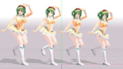 【ままま式gumi】体形変更モーフのサンプル