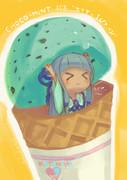 チョコミントアイスエイヤッ↑(/>_<)/