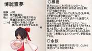 【キャラ紹介】博麗霊夢【Re:ゼロから始める実況生活part12】