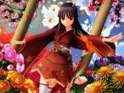 日本鬼子さんが 紅葉と共に舞う♡