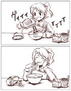 春日未来ちゃん、おやつ作りに挑戦する。