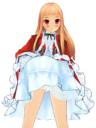 レア様のスカートを持ち上げてみた