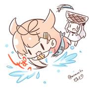 秋刀魚とれとれ!ぽいぬちゃん!