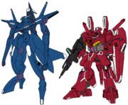 ガンダム Mk-Ⅴとアルケーの色を交換